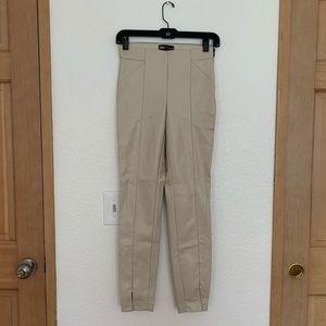 Zara faux leather leggings pants
